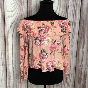 ABERCROMBIE & FITCH floral crop top